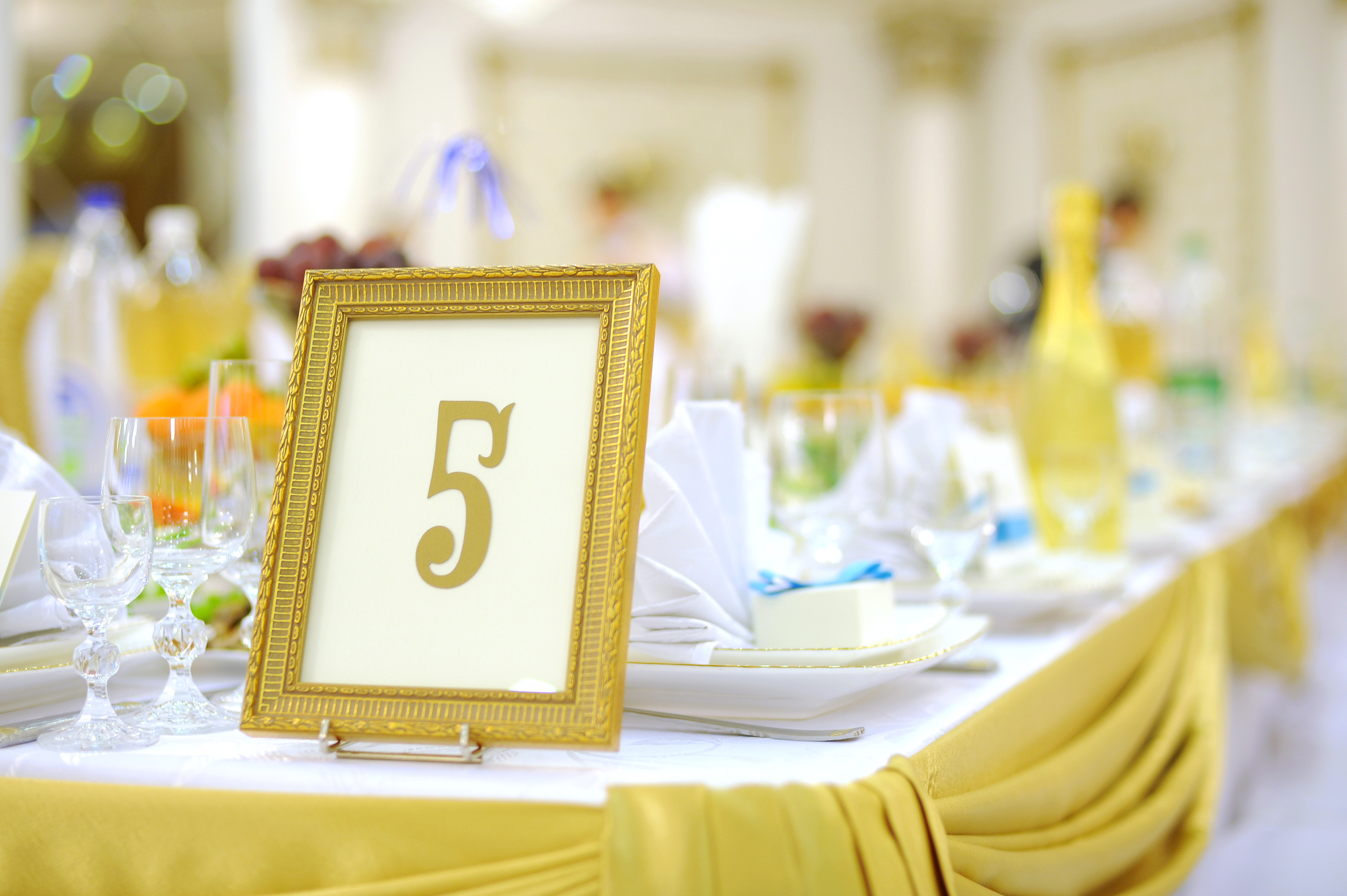 Simple Solutions for Wedding Table Numbers | Crystal Ballroom ...