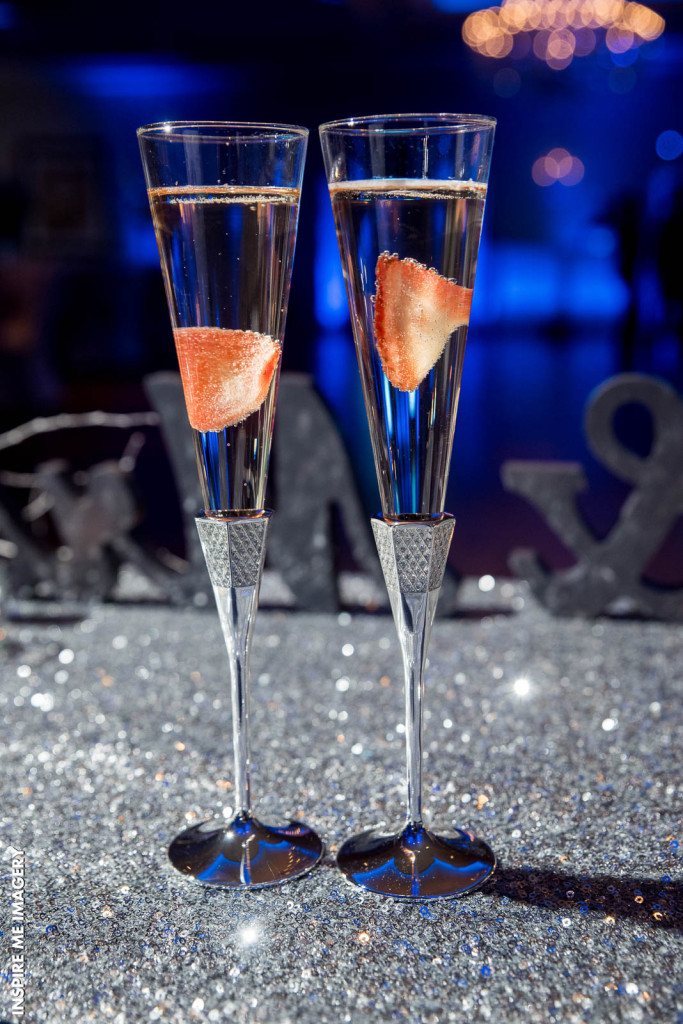 Champagne flute photos are a popular choice at NJ wedding venues
