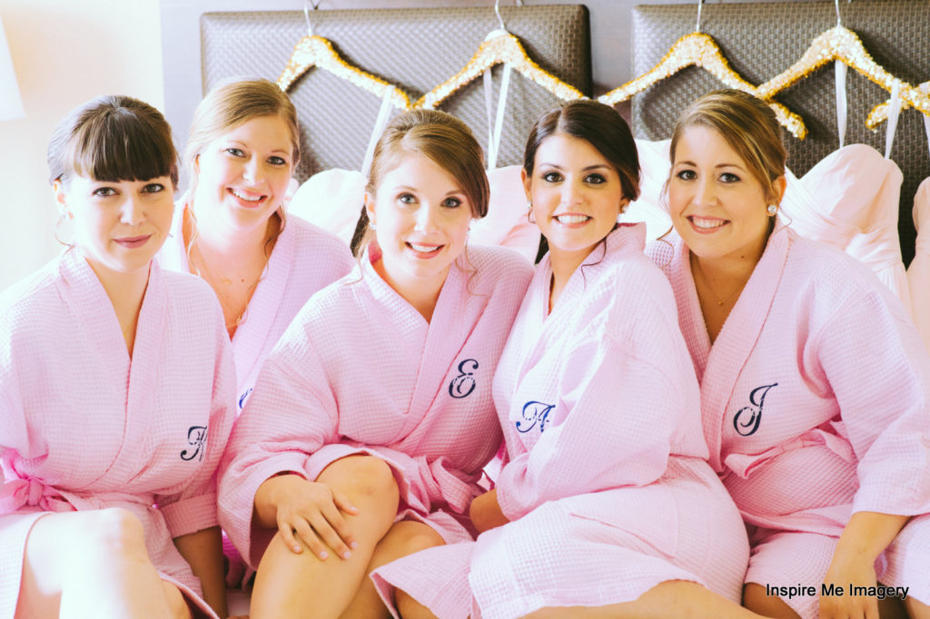 Bridal party spa treatment